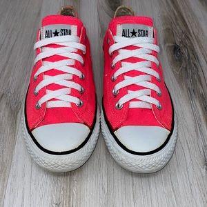 Converse Neon Pink Low Top Sneakers
